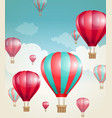 red air balloons and clouds vector image vector image