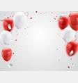 red white balloons confetti concept design 17 vector image vector image