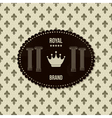 royal crown background vector image vector image