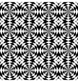 Seamless background in black and white vector image vector image