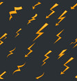 seamless pattern lightning thunder bolt pictogram vector image vector image