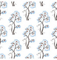 seamless pattern with hand drawn bushes with vector image vector image