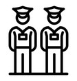 security guard icon outline style vector image vector image