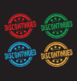 set of discontinued faded stamps vector image