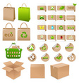 set of ecological container vector image vector image