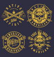 set of skull logos vector image