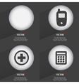 Set of Trendy buttons Icons With Long Shadow vector image