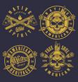 set skull logos vector image vector image