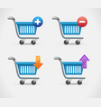 shopping busket icon in realistic style isolated vector image vector image