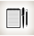 Silhouette notebook on a light background vector image vector image