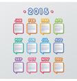 speech bubbles calendar vector image