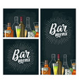 template for bar menu alcohol drink vector image vector image