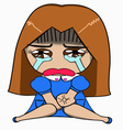The women sit crying cute eye face love