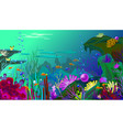 undersea world with fish different vector image