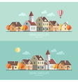 Urban landscape Autumn vector image