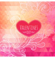 Valentine triangle background vector image vector image