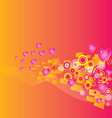 Valentines Day grunge background vector image vector image