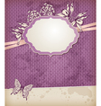 Violet vintage background vector image vector image