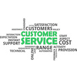word cloud customer service vector image vector image