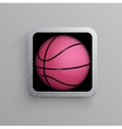 basketball goal black web icon vector image