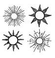 sun ray hand drawing vector image