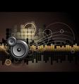 urban music background vector image