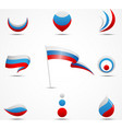 flags and icons of russia vector image