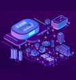 3d isometric ultraviolet megapolis vector image