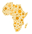 Africa map mosaic of orange dots vector image vector image