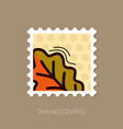 autumn leaves oak stamp vector image vector image