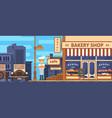 bakery facade bakery facade vector image
