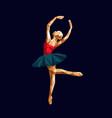 ballerina prima polygonal triangle paper cut vector image