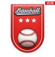 baseball badge and label vector image