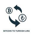 bitcoin to turkish lira icon mobile app printing vector image vector image