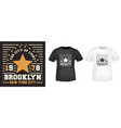 brooklyn star t-shirt print for t shirts applique vector image vector image