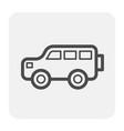 bus icon black vector image