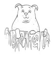 cartoon image of dog vector image vector image