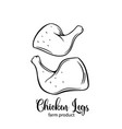 chicken legs vector image