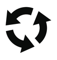 Circular arrows black simple icon vector image vector image