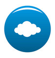 cloud in sky icon blue vector image vector image