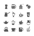 Coffee cup and tea icons vector image
