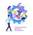 collaboration business development conference vector image vector image