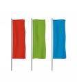 Colorful vertical banner flag templates vector image