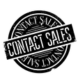 Contact Sales rubber stamp vector image vector image