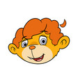cute little lion head 2 vector image vector image