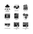 digital marketing icons set 1 vector image vector image
