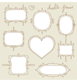 doodle frame set vector image vector image