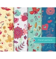 Floral patterns set vector image vector image