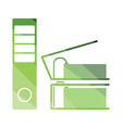 folders with clip icon vector image vector image