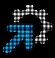gear integration halftone icon vector image vector image